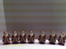 Wholesale lots of 7  Rusric Santa chistmas decoration
