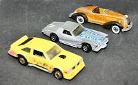 Lot of 3 Vintage Hot Wheels Die Cast Cars - FLAT OUT 442, AUBURN 852 & STUTZ