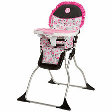 Pink Baby Girl Feeding High Chair Tray Safety Strap Minnie Mouse Infant Seat New