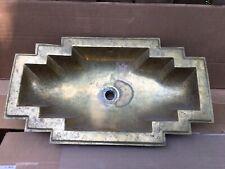 New Listingbrass copper art deco bathroom sink used
