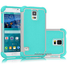 Hybrid Shockproof Rugged Rubber Slim Hard Case Cover for Samsung Galaxy S5 i9600