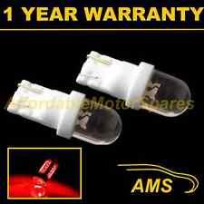 2X W5W T10 501 XENON rosso a cupola LED CODA POSTERIORE LAMPADINE HID luminoso TL100101