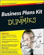 Business Plans Kit for Dummies by Barbara Findlay Schenck, Steven D. Peterson...
