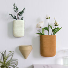 Modern Geometric Ceramic Art Flower Pot Vase Wall Hanging Vases Wall Decoration