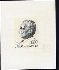 YUGOSLAVIA, 1972, TITO sheet nice proof on shine carton paper sign Velickovic