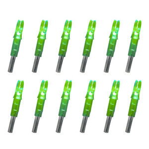 12pcs Archery LED Lighted Arrow Nocks Compound Bow Arrow Tail 6.2mm ghj