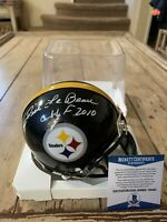 Dick LeBeau Autographed/Signed Mini Helmet Beckett COA Pittsburgh Steelers B