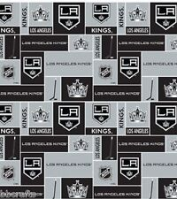 NHL HOCKEY LA LOS ANGELES KINGS FLEECE FABRIC BLANKET MATERIAL BY 1/2 YARD CRAFT