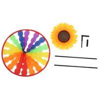 Sunflower Windmill Whirligig Wind Spinner Home Yard Garden Decor Child Kids Toy
