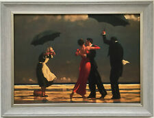 The Singing Butler by Jack Vettriano Framed Canvas Effect Print 55cm x 42cm Grey
