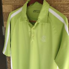 Mens Large NIKE Dry Fit SHARON GOLF CLUB OHIO Polo Shirt Green  3c