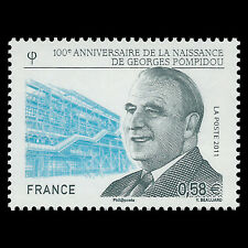 France 2011 - 100th Anniversary of the Birth of Georges Pompidou - Sc 4042 MNH