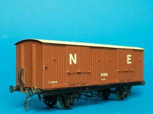 Kit Built D&S LNER ex Great Central GCR 15 Ton Goods Fish Van etched brass kit
