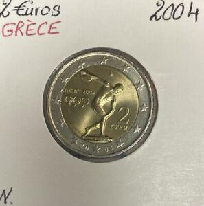 Grèce - 2 Euro 2004 - JEUX OLYMPIQUES D'ATHENES