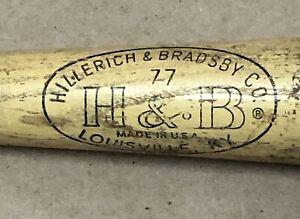 "Vintage Carl Yastrzemski Red Sox Hillerich & Bradsby 29"" Wooden Baseball Bat"