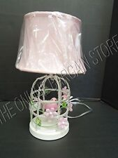 Pottery Barn Kids PBK Birdcage Complete Lamp bedside table Floral Girl White