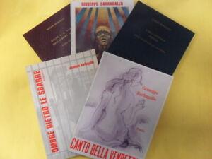 cofanetto con 5 volumi poesie e ombre dietro le sbarre barbagallo giuseppe