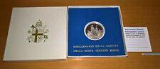 NL* Vaticano 500 Lire Argento 1984 Bimillenario Beata Vergine Maria Proof Set