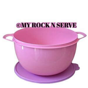 Tupperware Large Thatsa Mixing  Bowl 42 Cup Color Tutu w/ Lilac Lid  New!!!