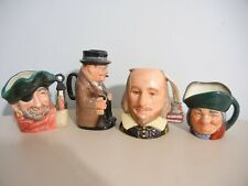 """Royal Doulton - Lot Of 4 Medium Toby Jugs , Approx. 4 """" Tall - Exc+"""