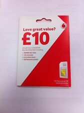 Vodafone UK Pay As You Go PAYG - Includes Standard, Micro & Nano Triple SIM Card