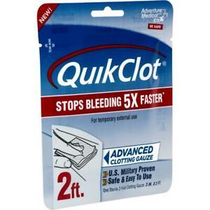 Adventure Medical QuikClot Gauze 3x24 Gauze Is Impregnated With Kaolin 0025