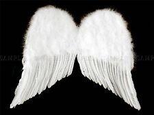 WHITE ANGEL WINGS CHERUB BLACK PHOTO ART PRINT POSTER PICTURE BMP258A