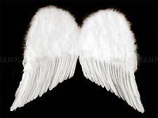 WHITE ANGEL WINGS CHERUB BLACK PHOTO ART PRINT POSTER PICTURE BMP258A
