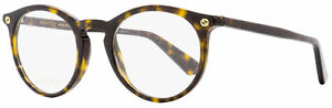 Gucci Oval Eyeglasses GG0121O 002 Havana 49mm 0121