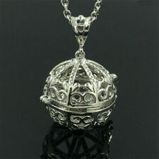 Fashion Silver Locket Pendant Aromatic Fragrance Oil Diffuser Necklace Jewelry