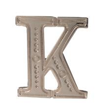 Letter K Nickel-Plated Orange Order Collarette Character