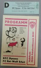 Programm + Ticket Rot Weiß Erfurt BFC Dynamo Berlin 11.3.89 DDR Oberliga RWE