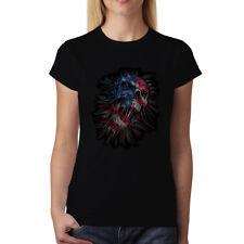Teschio Bandiera Stati Uniti d'America Donna T-shirt XS-3XL