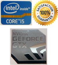 NVIDIA GeForce GTX + Intel Inside Core i5 PC Windows 7 Adesivo 8 XP VISTA 10 Regno Unito