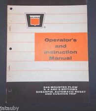 Oliver Operator'S And Instr Manual 346 Mounted Plow 3 4 & 5 Bottoms Shearpin