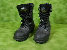 SERVUS boots Men's 7 black insulated steel shank work fire safety