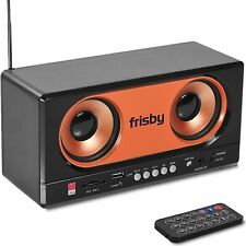 Frisby Multimedia Dual Speaker Radio & MP3 USB SD FM Radio w/ Remote
