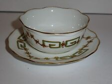B&H Limoges France China Small Sauce or Finger Bowl and Matching Underplate