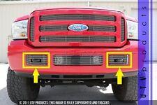 GTG 2005 - 2007 Ford F250 F350 F450 F550 2PC Polished Billet Grille Insert Kit
