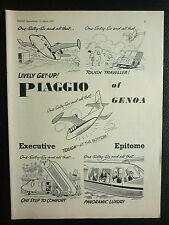 3/1962 PUB PIAGGIO OF GENOA PIAGGIO P.166 ORIGINAL EXECUTIVE AIRCRAFT  AD