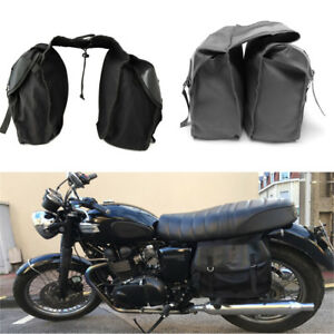 Motorcycle Accessories Black Saddle Bags Bike Side Storage Fork Tool Pouch
