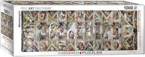 Eurographics Panroramic Sistine Chapel Ceiling Michelangelo Jigsaw Puzzle 1000pc
