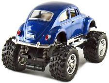 Kinsmart Off Road Monster Wheel 1967 VW Volkswagen Beetle 1:32 Discast Blue