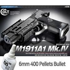 Academy M1911A1 Mk.IV BB Pistol Airsoft 6mm Shot Gun+BB 400ea Military Kit 17219