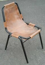 -Chaise métal tubulaire vintage Charlotte Perriand Design