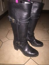 Ladies Black Leather Boots - Size 6 - Clarks