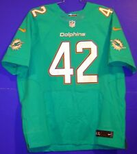Miami Dolphins #42 Charles Clay Aqua Authentic Nike Size 52 Nfl Jersey