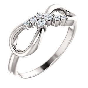 Diamond Infinity-Inspired Ring In Platinum (1/8 ct. tw