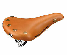 Sillin para Bicicleta de Paseo Cuero Piel MARRON con Muelles RETRO VINTAGE 5005