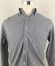 Peter Millar Nanoluxe Mens Gingham Check Blue Shirt Easy Care Sz Medium